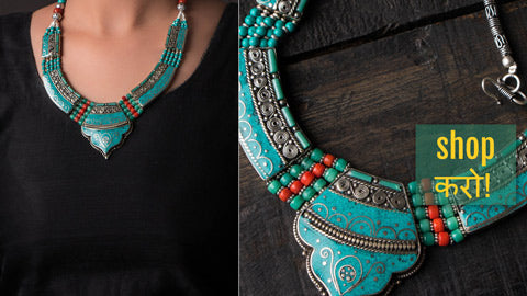 Ethnic Tribal Tibetan Necklaces & Earrings from Himalaya