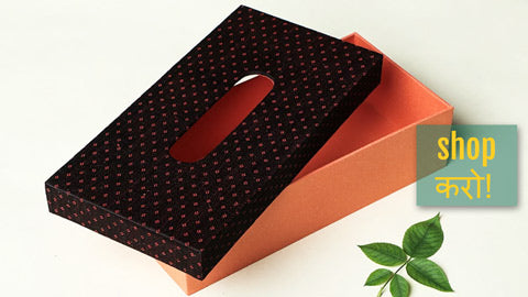 Mashru Silk Fabric Handmade Tissue Boxes