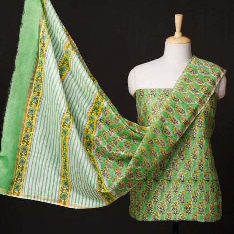 Chanderi Silk Cotton Dress Materials