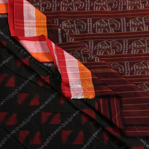 Pure Handwoven Sambalpuri Ikat Silk & Cotton Sarees from Odisha