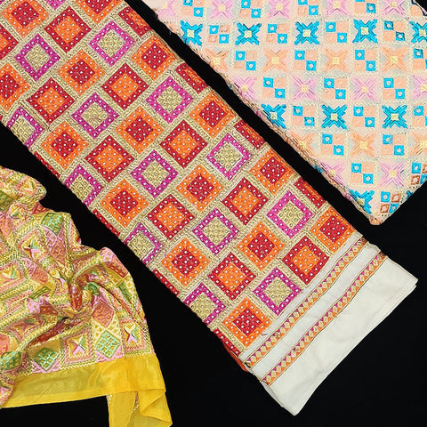 Phulkari Embroidery Fabrics From Punjab