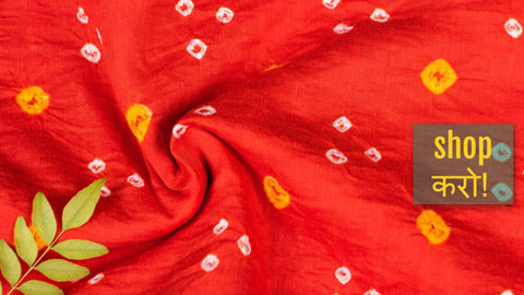 New! Traditional Kutch Bandhani Tie-Dyed Soft Cotton Fabrics