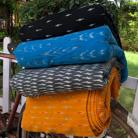 Pochampally Ikat Cotton Fabrics by Gajam Srinivas