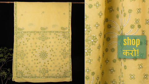 Lucknow Chikankari Hand Embroidered Sarees - Kota Doria, Georgette & Cotton