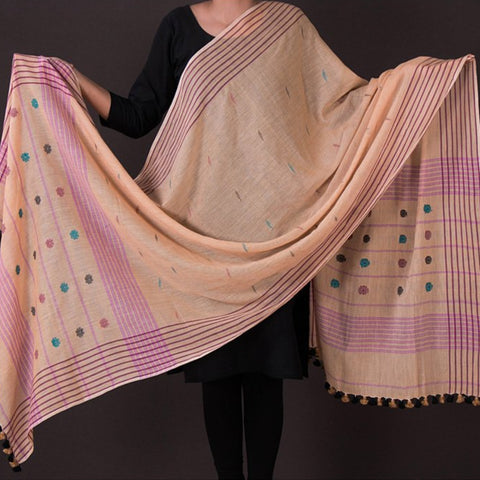 Authentic Muslin Handwoven Pure Fine Cotton Dupattas
