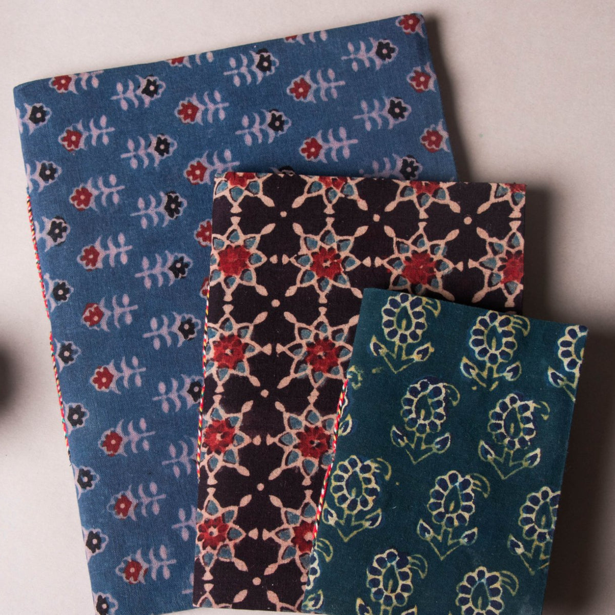 Hand Block Print Fabric Cover Handmade Diaries