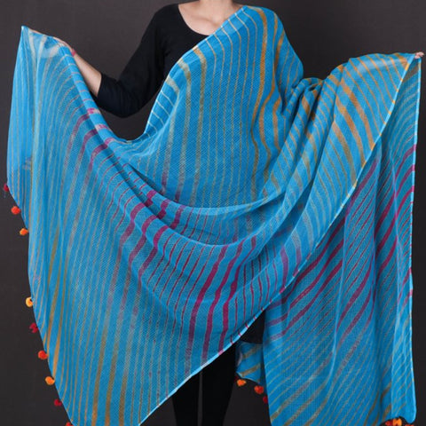 Traditional Leheriya Tie-Dye Kota Silk & Cotton Dupattas by Badshah Miyan