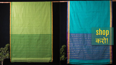 Dama Mangalagiri Handloom Cotton Sarees From East Godavari District of Andhra Pradesh