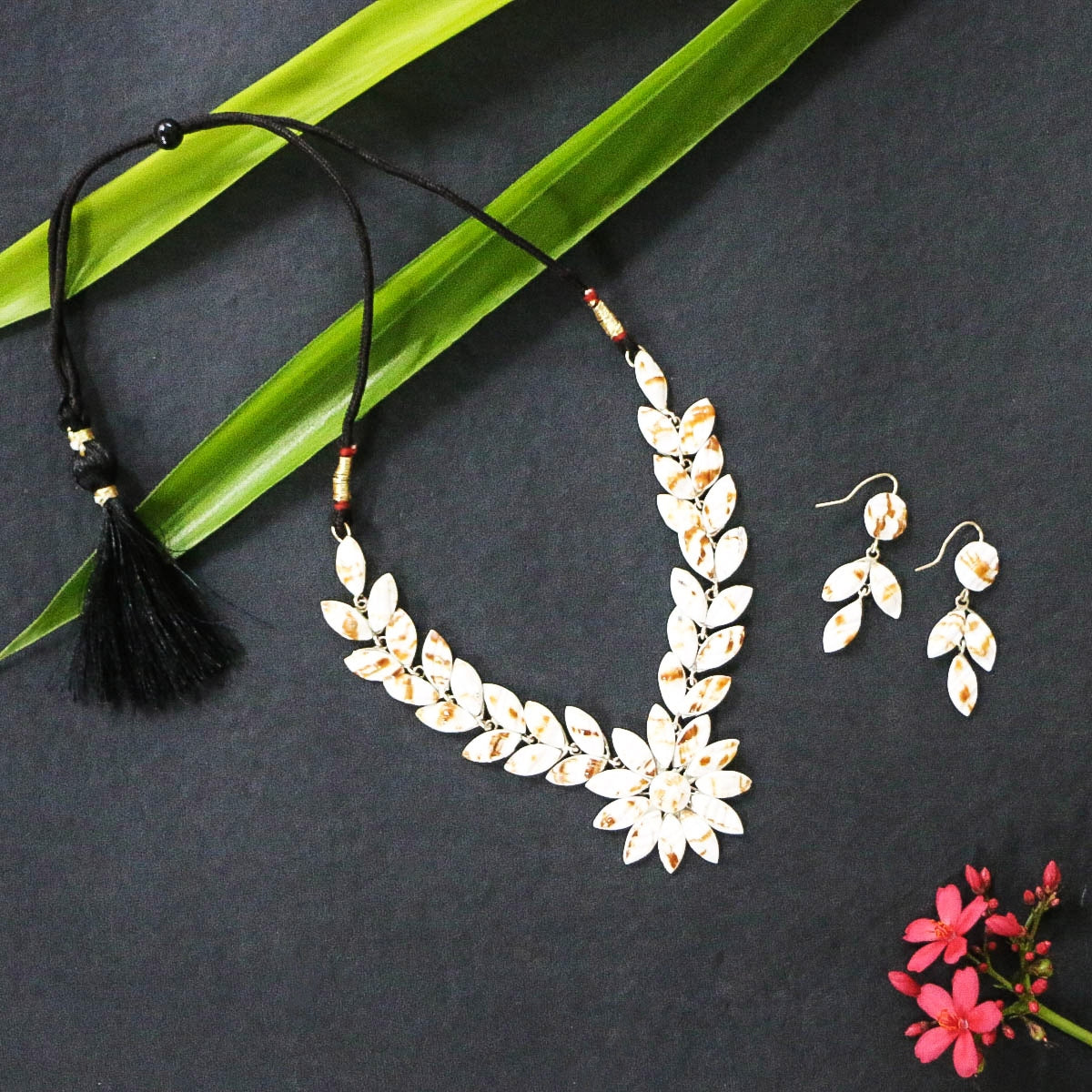 Handcrafted Seashell Necklace Sets, Hair Clips & Earrings by Kinkar Ghosh