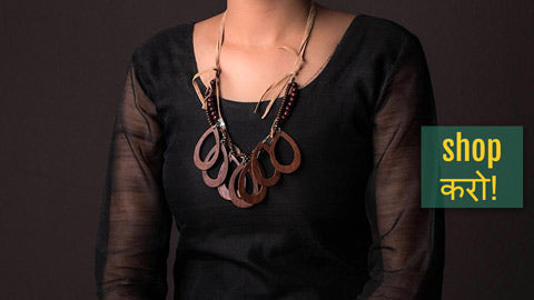 Bindass Unlimited! Handcarved Wooden Necklaces,  Necklace Sets & Earrings