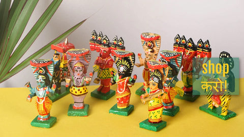 Handpainted Wooden Toys & Photo Frames from Banaras