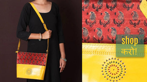 Handcrafted Kutch Leather Shoulder Bags, Sling Bags, Card Holders & Clutch Wallets