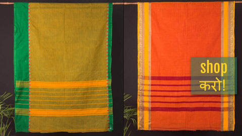 Traditional Chettinad Kandangi Pure Cotton Sarees from Tamil Nadu