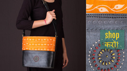 Handcrafted Kutch Leather Card Holders, Clutch Wallets, Shoulder Bags & Sling Bags