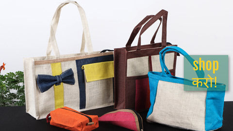 Multipurpose Jute Hand Bags & Pencil Pouches by Santosh Kumar