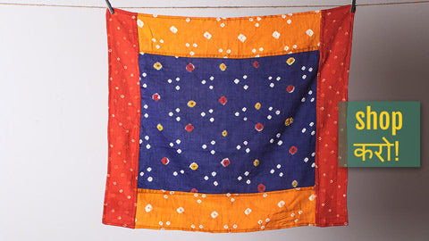 Bandhani Mulmul Cotton Fabric Bandanas by Jalpari