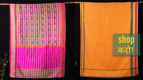 Handloom & Block Printed Sarees in Silk, Cotton & Kota Doria