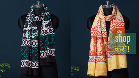 Batik Block Print Soft Cotton Stoles
