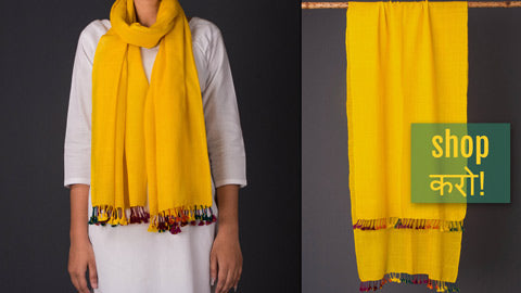 Pure Woolen & Silk X Wool Multi Fuman Stoles from Kutch by Vankar Bhimji Kanji