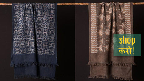 Exclusive! Jhiri Handloom Cotton Towels with Natural Dyed Bindaas Block Prints