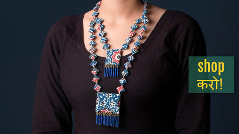 Fabart Work Necklace Sets & Earrings by Mool Creations