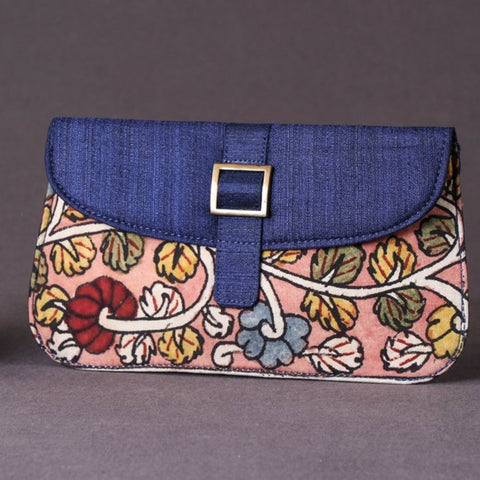 Handpainted Kalamkari Natural Dyed Silk & Cotton Bags, Clutches, Purses & Pouches by Dwaraka Plus