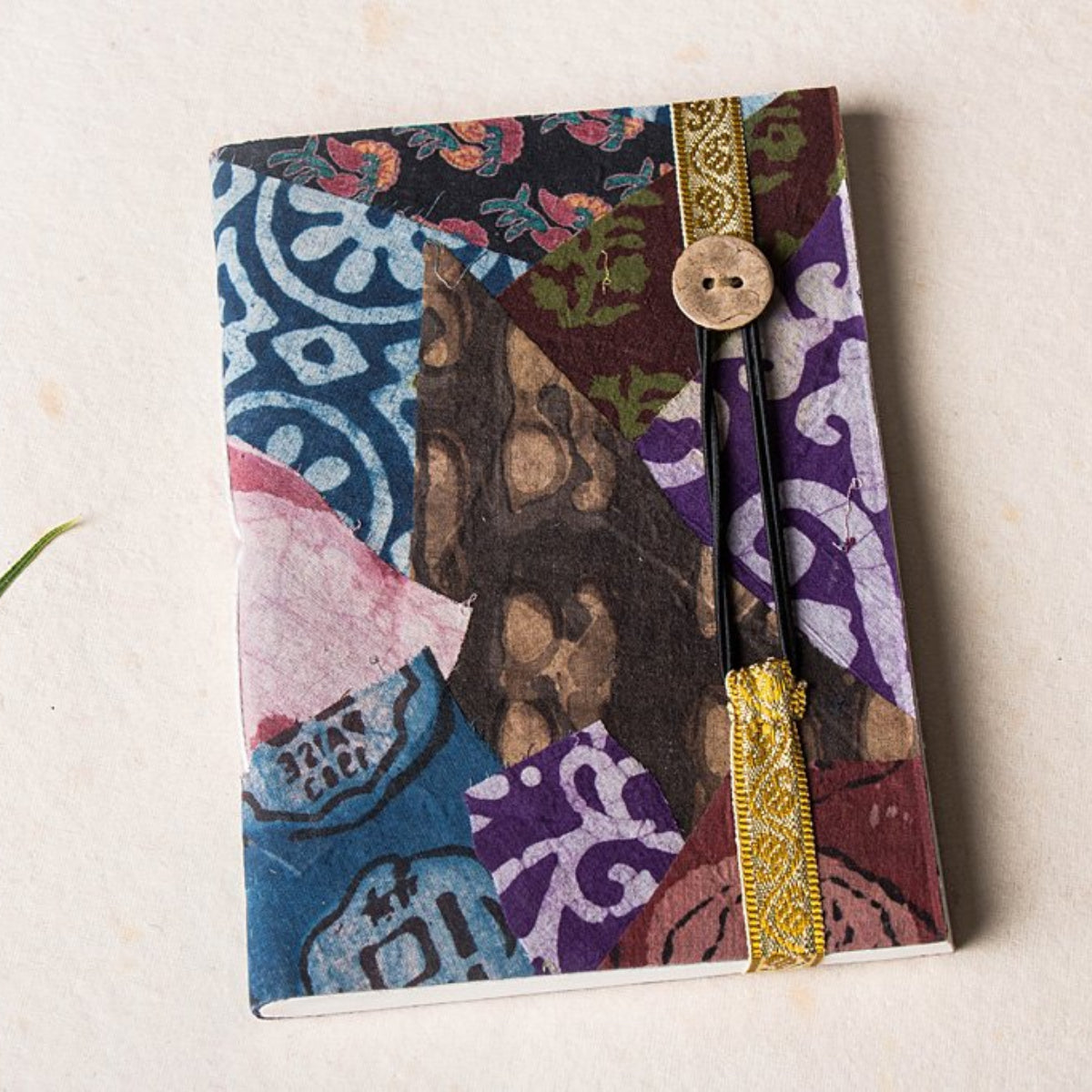 Patchwork Fabric Cover Handmade Diaries
