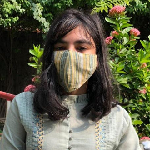Restocked! Organic Kala Cotton Handloom Fabric 3 Layer Snug Fit Face Covers