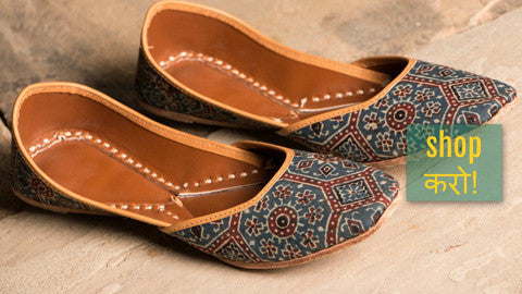 ❃ Handstitched Kutch Leather Juttis & Slippers by Desika ❃