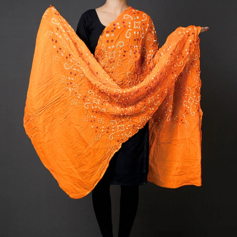 Traditional Kutchhi Bandhani Tie-Dye Dupattas in Silk & Cotton