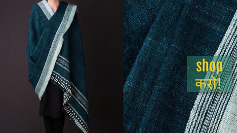 Traditional Kutchhi Embroidered Handwoven Woolen Shawls & Stoles by Vankar Bhimji Kanji, Kutch