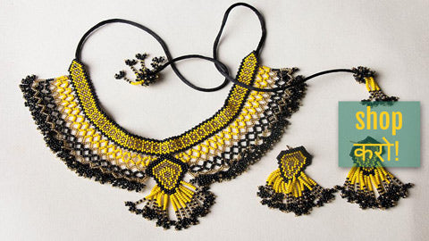 Neemuch Handmade Beadwork Necklace, Necklace Sets, Earrings, Bracelets & Spectacle Lanyards by Pushpa Harit