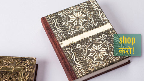 Leather Cover Handmade Paper Notebooks & Photo Albums