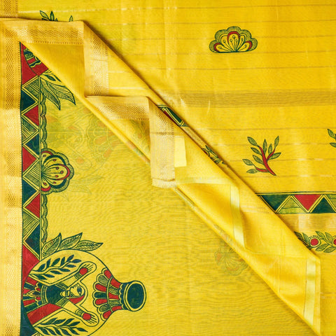 Hand Painted Silk & Cotton Sarees