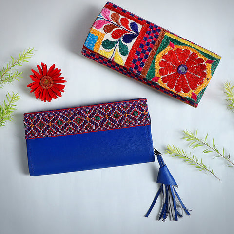 Kutchi Embroidery Handmade Clutch Wallets