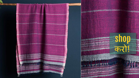 Organic Kala Cotton Handloom Towels from Kutch