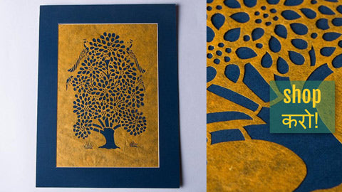 Sanjhi Paper Cut Artwork by Vijay Soni