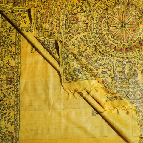 Handwoven Pure Tussar Silk & Cotton Sarees