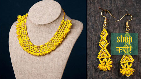Neemuch Handmade Beadwork jewelry by Pushpa Harit - Necklaces, Necklace Sets & Earrings