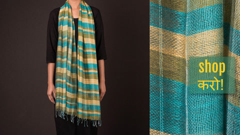 Handwoven Pure Woolen & Silk X Wool Stoles from Nadia, West Bengal