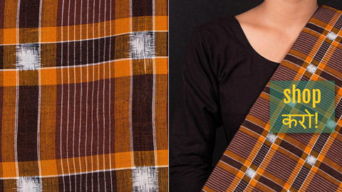 Handwoven Sambalpuri Ikat Cotton Fabrics from Odisha
