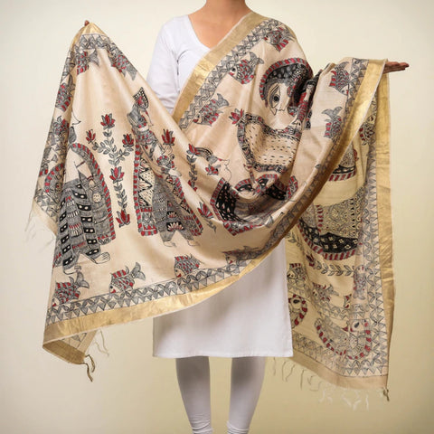 Tussar Silk & Cotton Dupattas