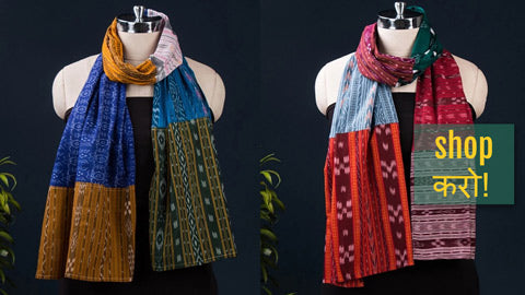 Ikat Fabart Cotton Stoles by Stoles & Scarves