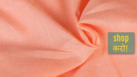 New! Dyed Plain Cotton Fabrics - Slub, Mulmul, Flex