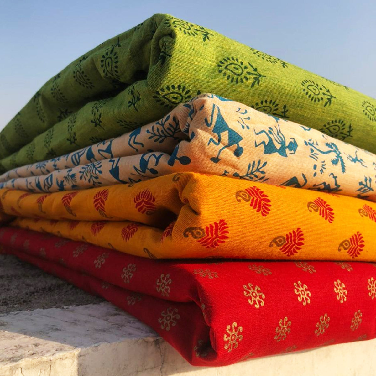 Pre Washed South Cotton Printed Fabrics from Tamil Nadu