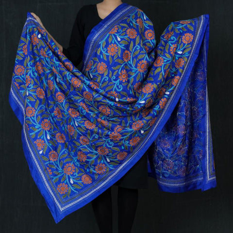 Original Bengal Kantha Work Pure Silk & Cotton Dupattas