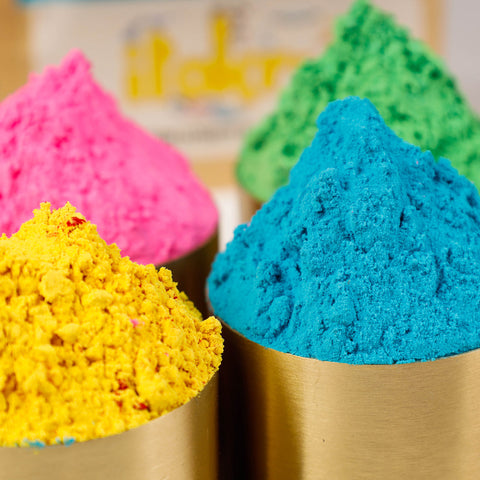 Organic and Herbal Holi Colors / Gulal by Prakrati Organics