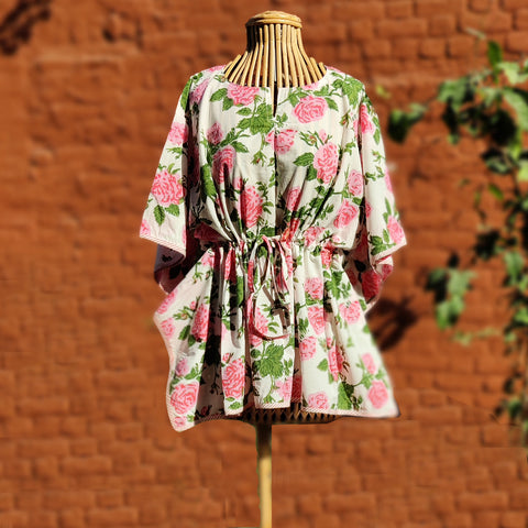 Hand Block Prints Cotton Kaftans by Chutney Craft Studio
