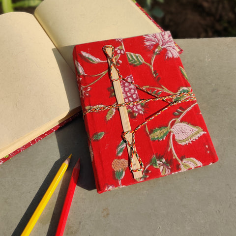 Fabric Cover Handmade Paper Notebooks