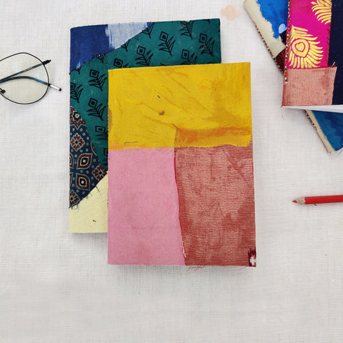 Fabric Cover Handmade Paper Notebooks and Magnetic Notepads